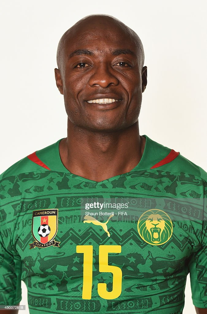 <a gi-track='captionPersonalityLinkClicked' href=/galleries/search?phrase=Pierre+Webo&family=editorial&specificpeople=790636 ng-click='$event.stopPropagation()'>Pierre Webo</a> of Cameroon poses during the official FIFA World Cup 2014 portrait session on June 9, 2014 in Vitoria, Brazil.