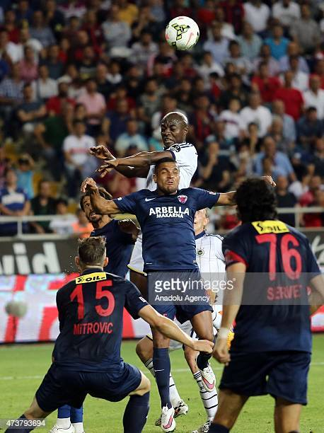 Pierre Webo of Fenerbahce in action during the Turkish Spor Toto Super League football match between Mersin Idmanyurdu and Fenerbahce at Mersin...