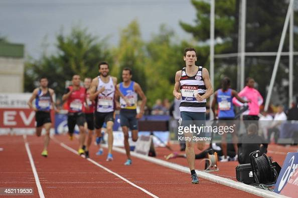 PierreAmbroise Bosse wins first place in the 800 Meter during the Championnats de France d'Athletisme Elite on July 13 2014 in Reims France