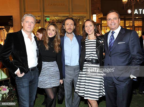 PierreAntoine Raberin actress Jessica Alba Ladurée copresident David Holder Ladurée copresident Elisabeth Holder Raberin and Caruso Founder and CEO...