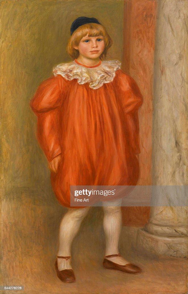 PierreAuguste Renoir Claude Renoir in Clown Costume oil on canvas 120 x 77 cm Musée de l'Orangerie Paris