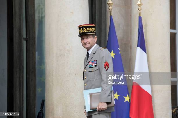 PierredeVilliers France's armed forces chief of staffarrives for a FrancoGerman joint cabinet meeting at the Elysee Palace in Paris France...