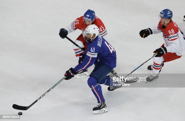 PierreEdouard Bellemare of France a in action during the 2017 IIHF Ice Hockey World Championship game between France and Czech Republic at...