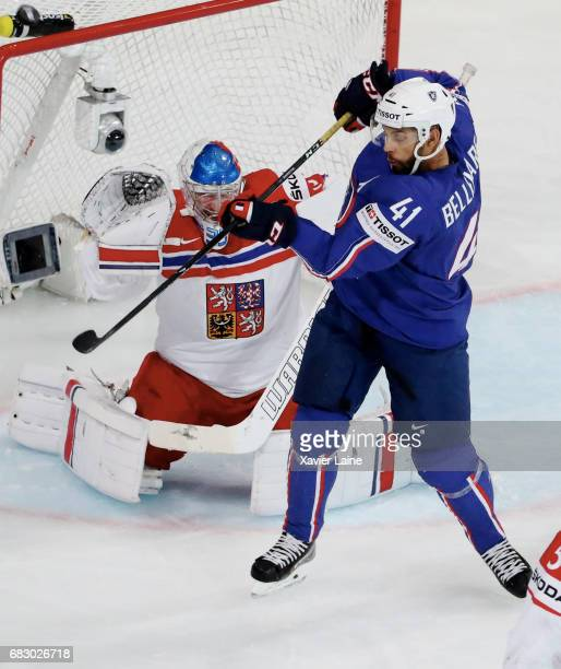 PierreEdouard Bellemare of France in action during the 2017 IIHF Ice Hockey World Championship game between France and Czech Republic at AccorHotels...