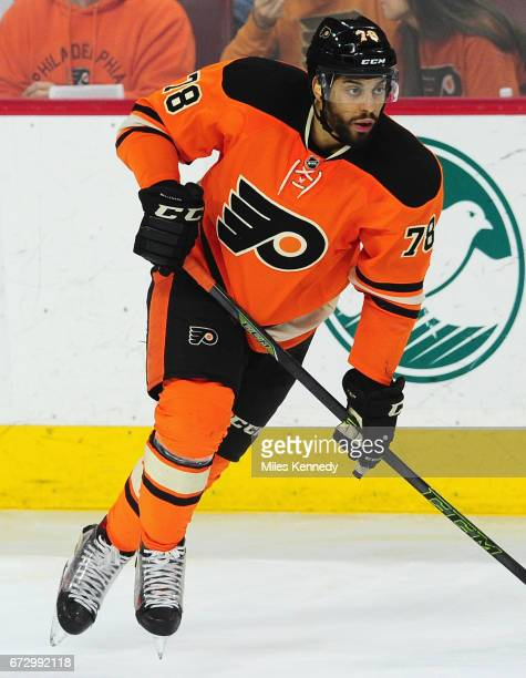 PierreEdouard Bellemare of the Philadelphia Flyers plays in the game against the Washington Capitals at Wells Fargo Center on March 30 2016 in...