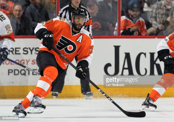 PierreEdouard Bellemare of the Philadelphia Flyers skates against the Florida Panthers on March 2 2017 at the Wells Fargo Center in Philadelphia...