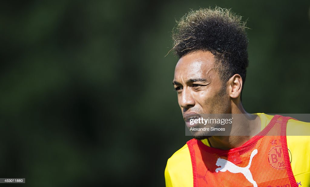 Pierre-Emerick Aubameyang (BVB) of Borussia Dortmund during a training session in the Borussia Dortmund training camp on July 31, 2014 in Bad Ragaz, Switzerland.
