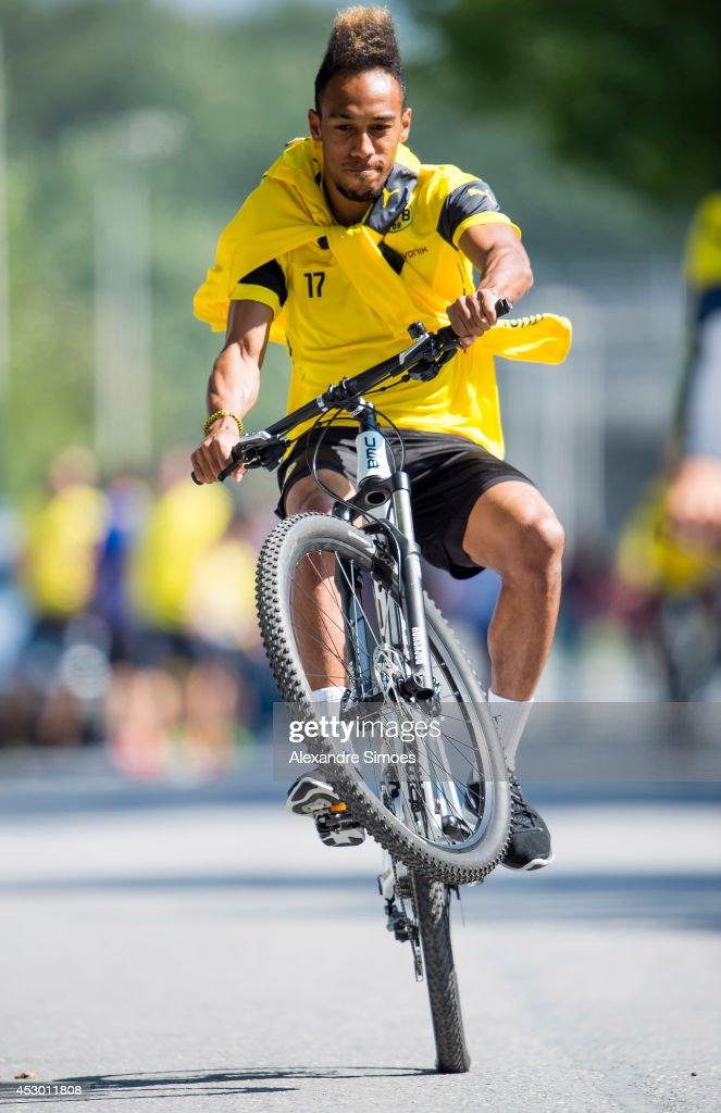Pierre-Emerick Aubameyang (BVB) of Borussia Dortmund during a training session on July 31, 2014 in Bad Ragaz, Switzerland.