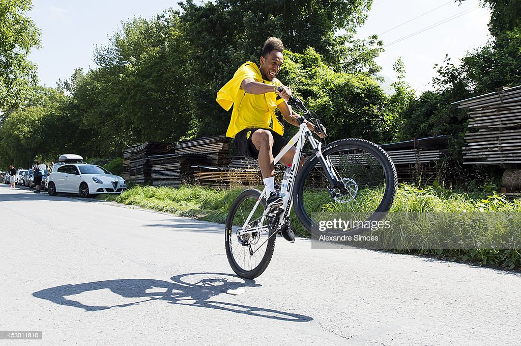 Pierre-Emerick Aubameyang (BVB) of Borussia Dortmund during a training session on July 31, 2014 in Bad Ragaz, Switzerland.
