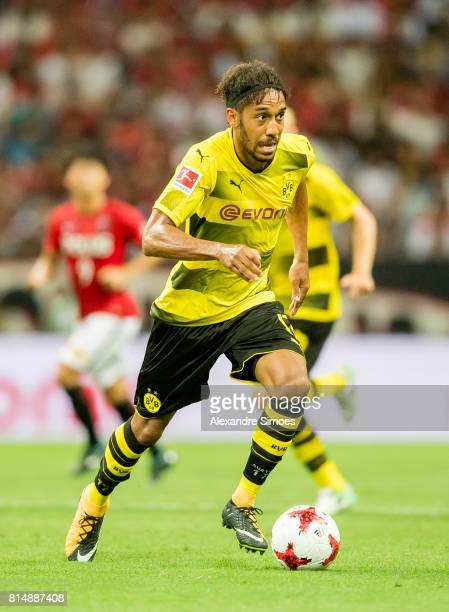 PierreEmerick Aubameyang of Borussia Dortmund during the preseason friendly match between Urawa Red Diamonds and Borussia Dortmund at Saitama Stadium...