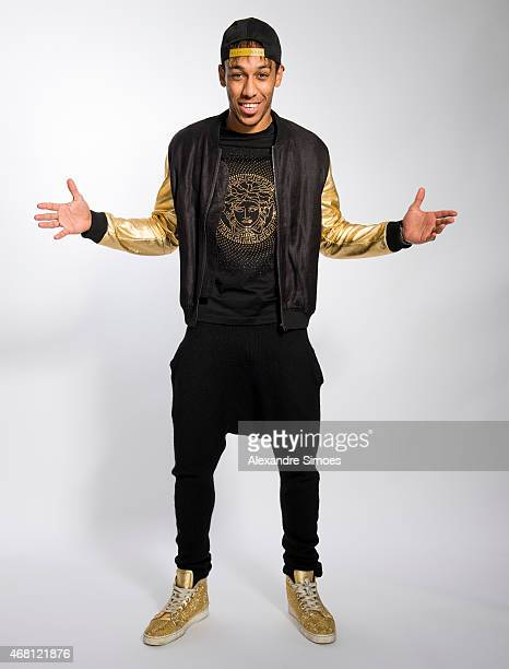PierreEmerick Aubameyang of Borussia Dortmund poses during a portrait shoot on February 26 2015 in Dortmund Germany