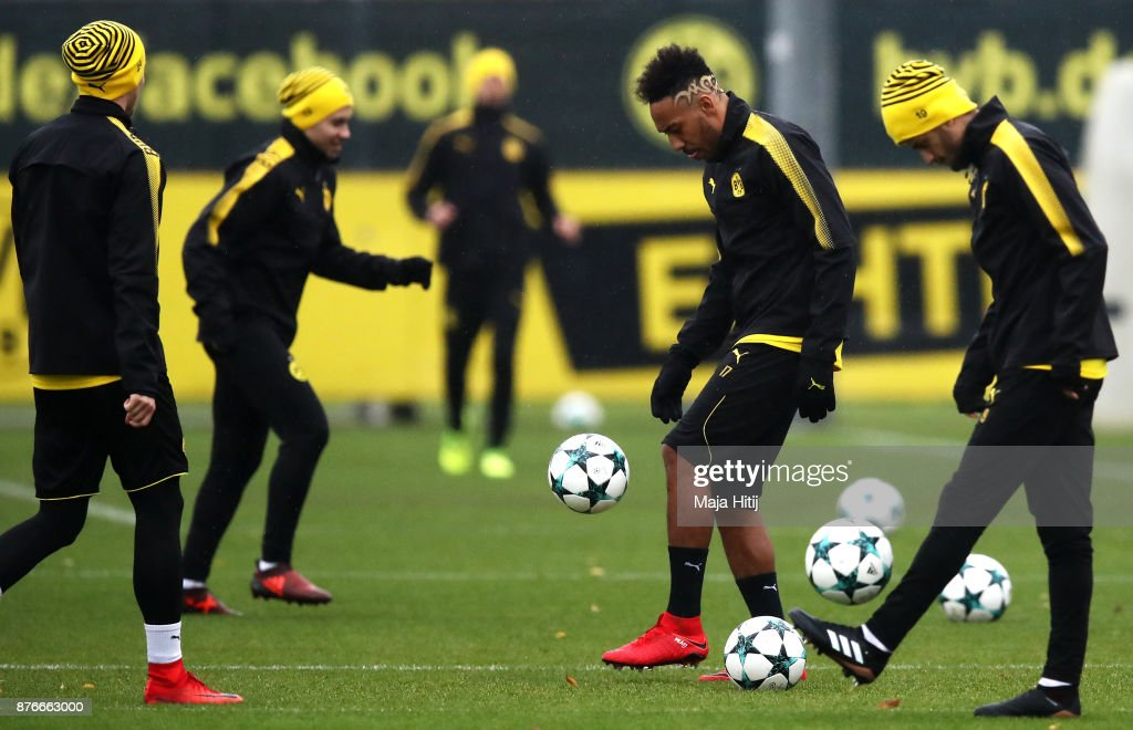 Borussia Dortmund Training And Press Conference