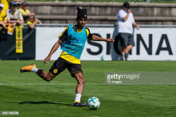 PierreEmerick Aubameyang of Dortmund controls the ball during a training session as part of the training camp on July 30 2017 in Bad Ragaz Switzerland