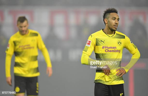 PierreEmerick Aubameyang of Dortmund looks dejected during the Bundesliga match between Borussia Dortmund and FC Bayern Muenchen at Signal Iduna Park...