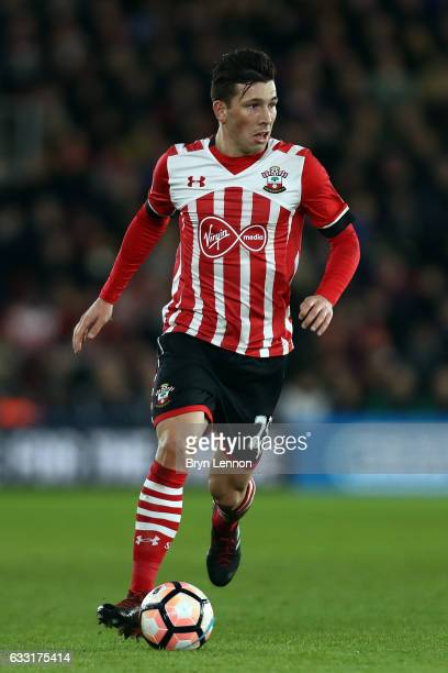 PierreEmile Hojbjerg of Southampton in action during the Emirates FA Cup Fourth Round match between Southampton and Arsenal at St Mary's Stadium on...