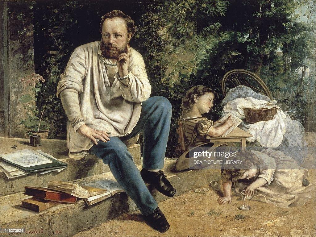 PierreJoseph Proudhon and his family 18651867 by Gustave Courbet Paris Petit Palais Musée Des BeauxArts De La Ville De Paris