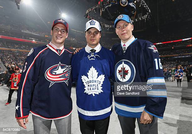 PierreLuc Dubois selected third overall by the Columbus Blue Jackets Auston Matthews selected first overall by the Toronto Maple Leafs and Patrik...