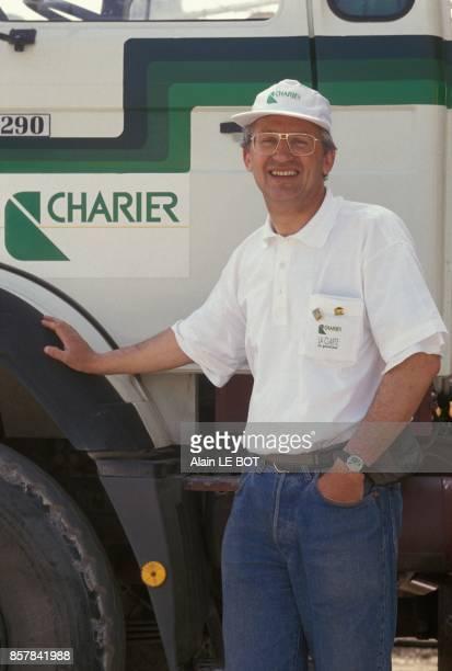 PierreMarie Charier PDG du groupe Charier specialise dans les travaux publics et l'exploitation de carrieres le 3 juin 1993 a Herbignac France