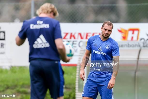 PierreMichel Lasogga of Hamburg looks on during the Training Camp of Hamburger SV on July 22 2017 in Laengenfeld Austria