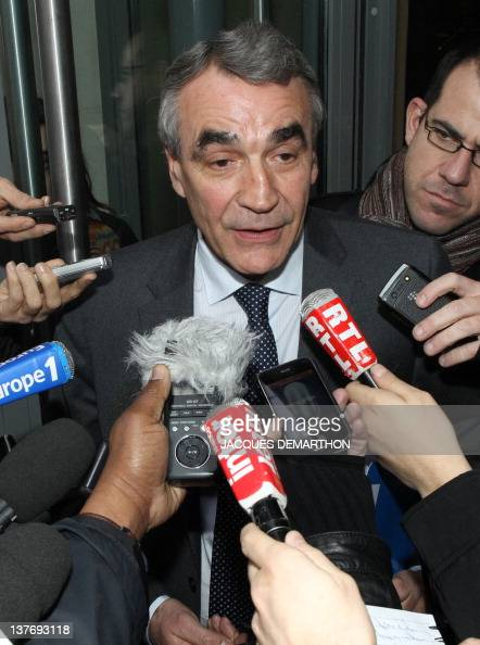 PierreYves Revol the chairman of the Ligue nationale de Rugby speaks to journalists after the hearing of Toulon rugby union club president Mourad...