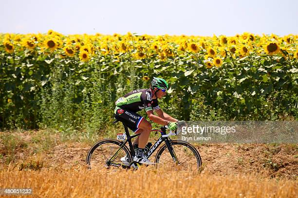 Pierrick Fedrigo of France and BretagneSeche Environnement rides during stage ten of the 2015 Tour de France a 167 km stage between Tarbes and La...