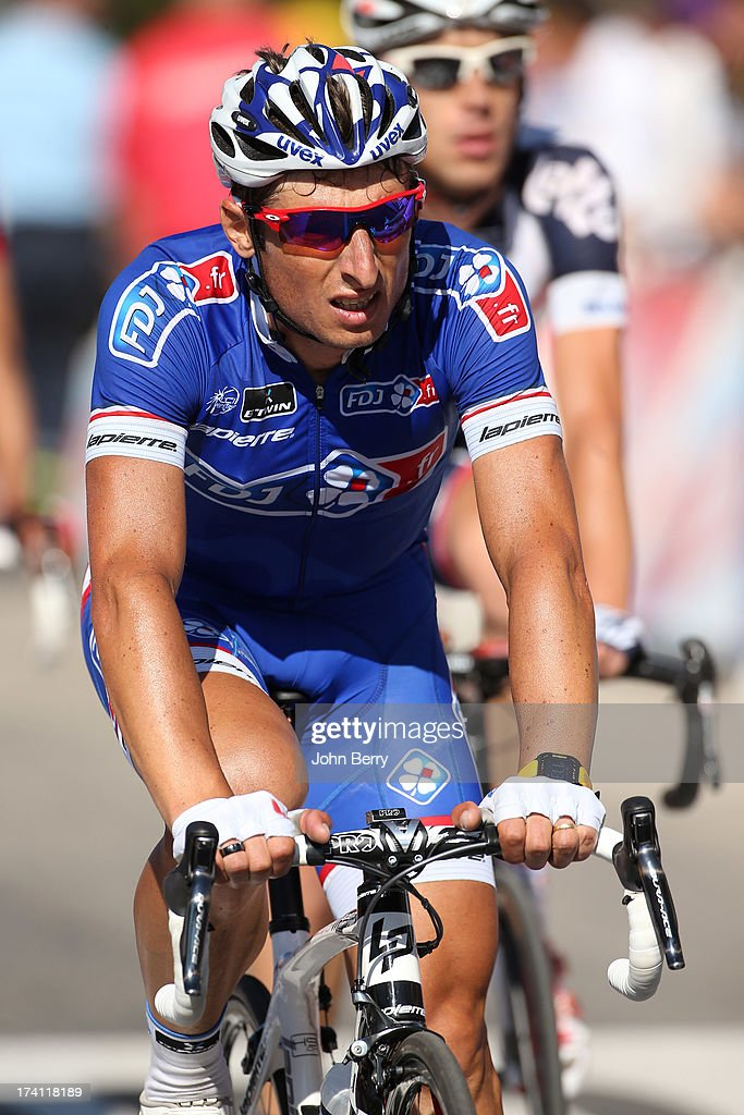 <a gi-track='captionPersonalityLinkClicked' href=/galleries/search?phrase=Pierrick+Fedrigo&family=editorial&specificpeople=649043 ng-click='$event.stopPropagation()'>Pierrick Fedrigo</a> of France and FDJ.fr finishes stage twenty of the 2013 Tour de France, a 125KM road stage from Annecy to Annecy-Semnoz, on July 20, 2013 in Annecy, France.
