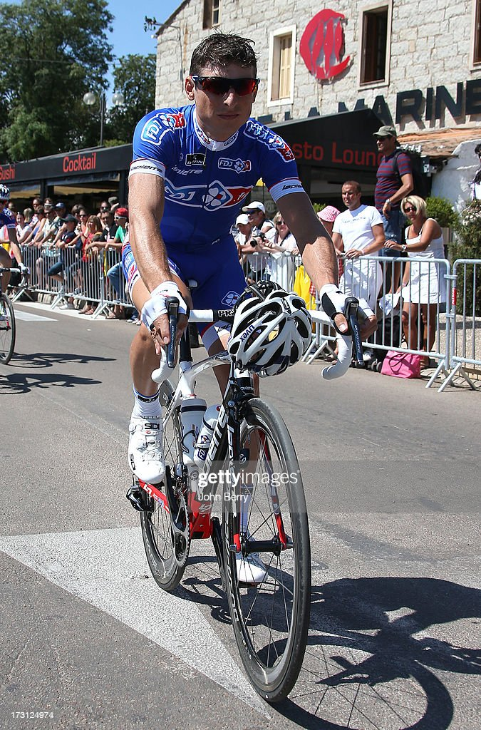 <a gi-track='captionPersonalityLinkClicked' href=/galleries/search?phrase=Pierrick+Fedrigo&family=editorial&specificpeople=649043 ng-click='$event.stopPropagation()'>Pierrick Fedrigo</a> of France and Team FDJ.FR during Stage One of the Tour de France 2013 - the 100th Tour de France -, a road stage between Porto-Vecchio and Bastia on June 29, 2013 in Bastia, Corsica, France.