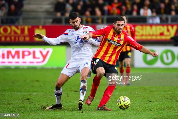 Pierrick VALDIVIA / Rachid GHEZZAL Lens / Lyon 21eme journee Ligue 1 Photo Dave Winter / Icon Sport