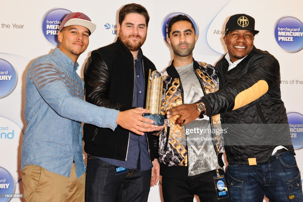 Piers Agget Kesi Dryden Amir Amor and and DJ Loclsmith of Rudimental attend the announcement of the Barclaycard Mercury Prize shortlist at The...