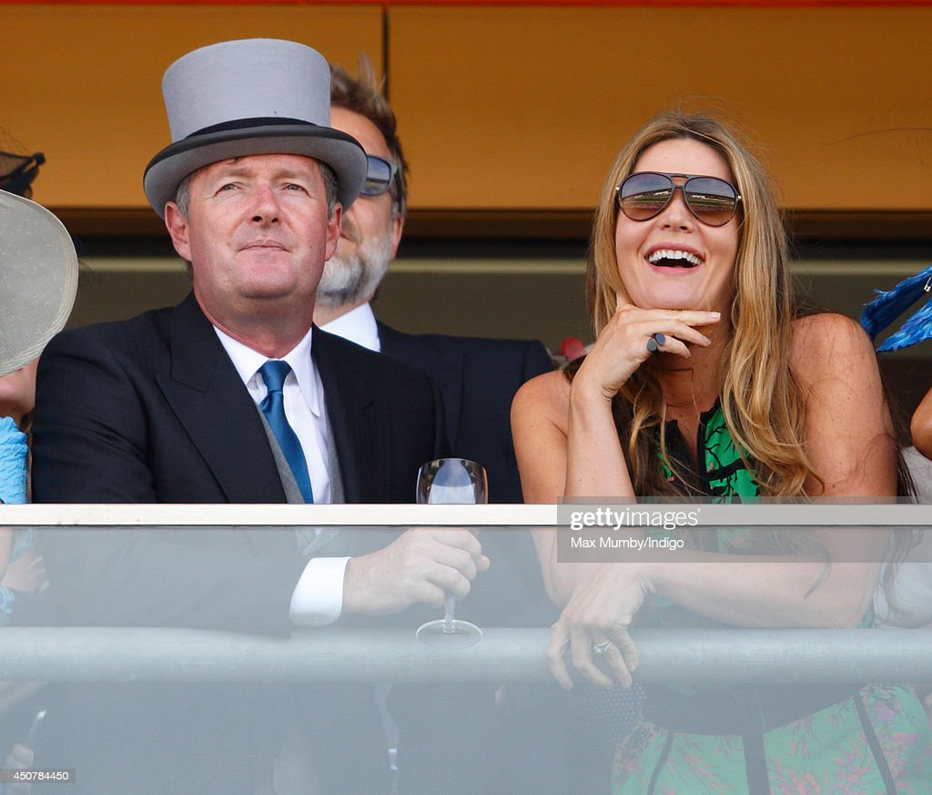 <a gi-track='captionPersonalityLinkClicked' href=/galleries/search?phrase=Piers+Morgan&family=editorial&specificpeople=216509 ng-click='$event.stopPropagation()'>Piers Morgan</a> and Celia Morgan watch the racing as they attend Day 1 of Royal Ascot at Ascot Racecourse on June 17, 2014 in Ascot, England.
