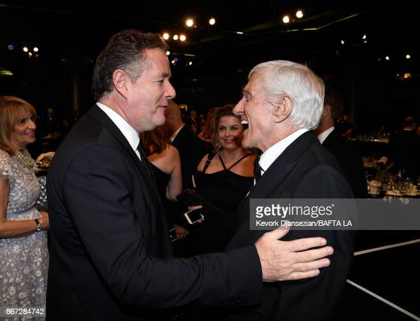Piers Morgan and Dick Van Dyke at the 2017 AMD British Academy Britannia Awards Presented by American Airlines And Jaguar Land Rover at The Beverly...