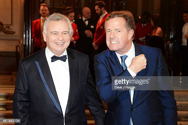 Piers Morgan and Eamonn Holmes attend the ITV Gala at London Palladium on November 19 2015 in London England