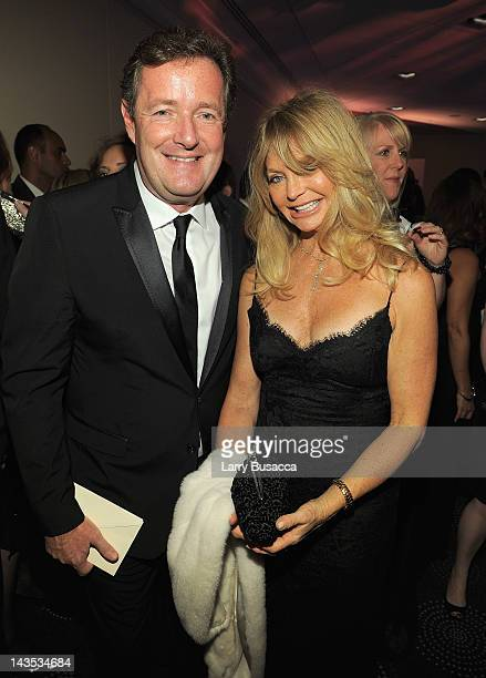 Piers Morgan and Goldie Hawn attend TIME/PEOPLE/FORTUNE/CNN White House Correspondents' Association Dinner Cocktail Party at the Hilton Hotel on...