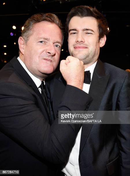 Piers Morgan and host Jack Whitehall at the 2017 AMD British Academy Britannia Awards Presented by American Airlines And Jaguar Land Rover at The...