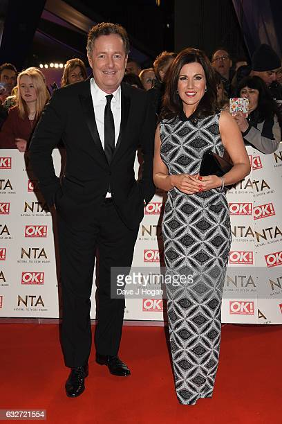 Piers Morgan and Susanna Reid attend the National Television Awards at Cineworld 02 Arena on January 25 2017 in London England