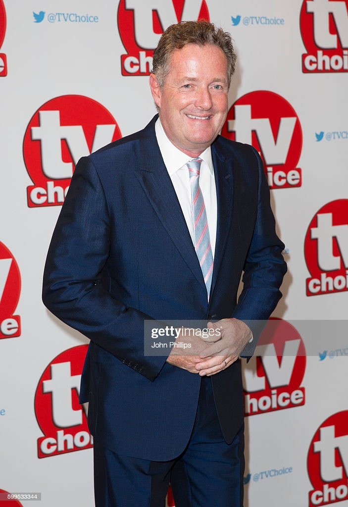 Piers Morgan arrives for the TV Choice Awards at The Dorchester Hotel on September 5, 2016 in London, England.