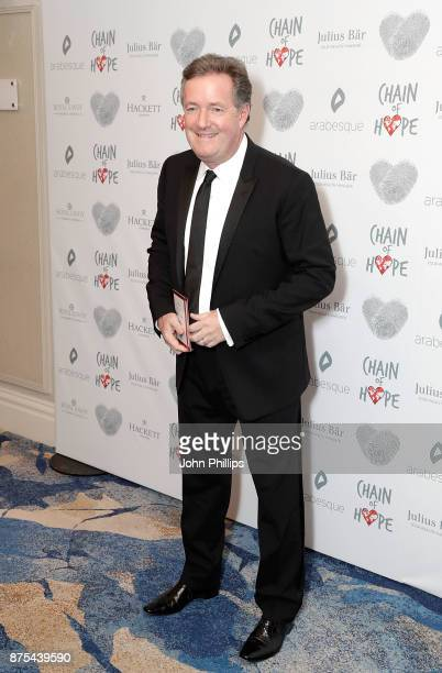 Piers Morgan arriving at the Chain Of Hope Gala Ball held at Grosvenor House on November 17 2017 in London England