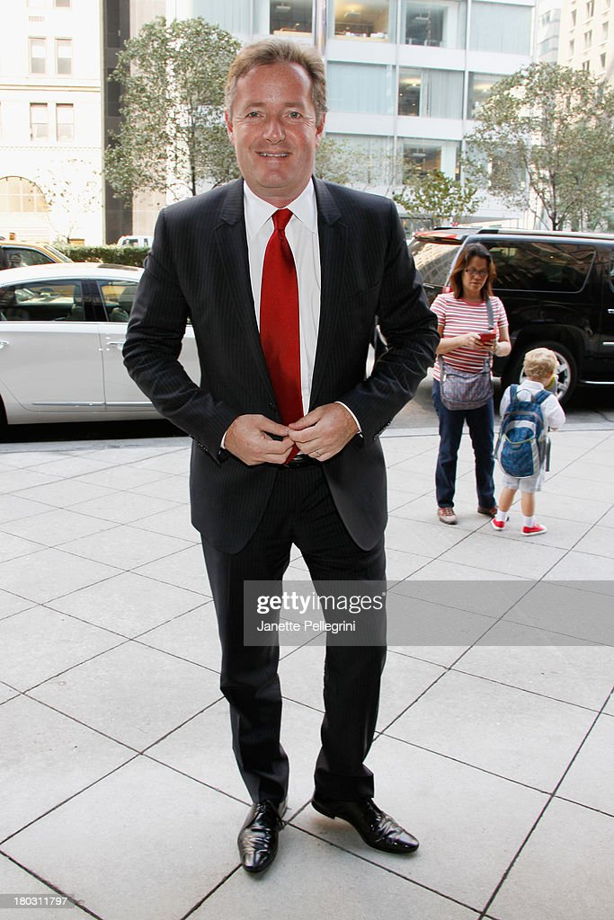 <a gi-track='captionPersonalityLinkClicked' href=/galleries/search?phrase=Piers+Morgan&family=editorial&specificpeople=216509 ng-click='$event.stopPropagation()'>Piers Morgan</a> attends the Annual Charity Day Hosted By Cantor Fitzgerald And BGC at the Cantor Fitzgerald Office on September 11, 2013 in New York, United States.