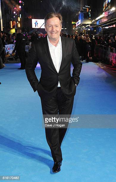 Piers Morgan attends the European premiere of 'Eddie The Eagle' at Odeon Leicester Square on March 17 2016 in London England