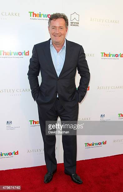 Piers Morgan attends the Theirworld Astley Clarke summer reception in celebration of charitable partnership at the private residence of the British...