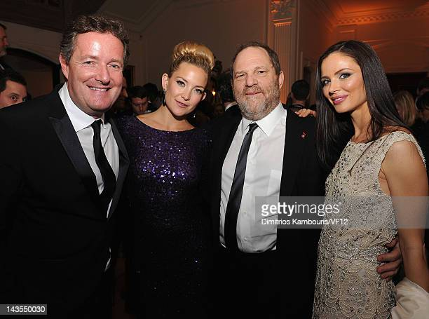 Piers Morgan Kate Hudson Harvey Weinstein and Georgina Chapman attend the Bloomberg Vanity Fair cocktail reception following the 2012 White House...