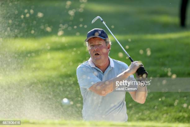 Piers Morgan of England the television personlity plays a shot during the proam for the 2017 BMW PGA Championship on the West Course at Wentworth on...