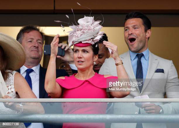 Piers Morgan Susanna Reid and Mark Wright watch the Gold Cup as they attend day 3 Ladies Day of Royal Ascot at Ascot Racecourse on June 22 2017 in...