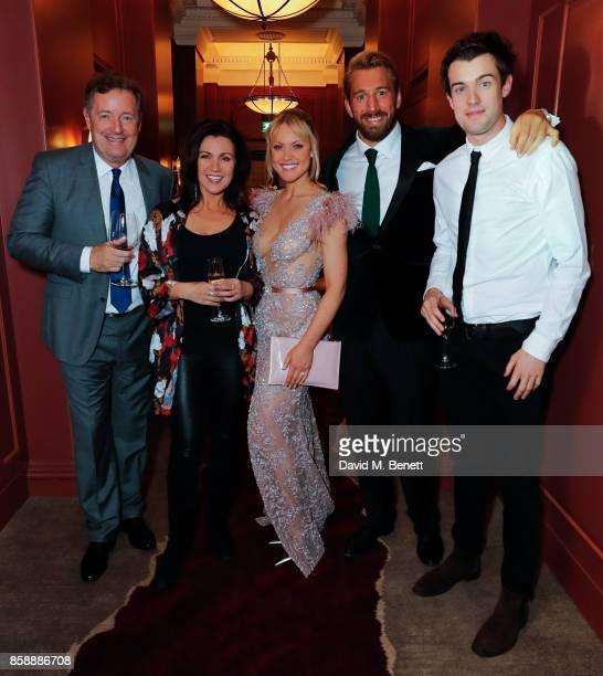 Piers Morgan Susanna Reid Camilla Kerslake Chris Robshaw and Jack Whitehall attend Chris Robshaw and Camilla Kerslake's engagement party at Ten...