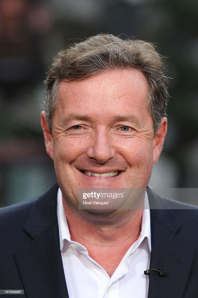 Piers Morgan visits 'Extra' at The Grove on November 26, 2012 in Los Angeles, California.