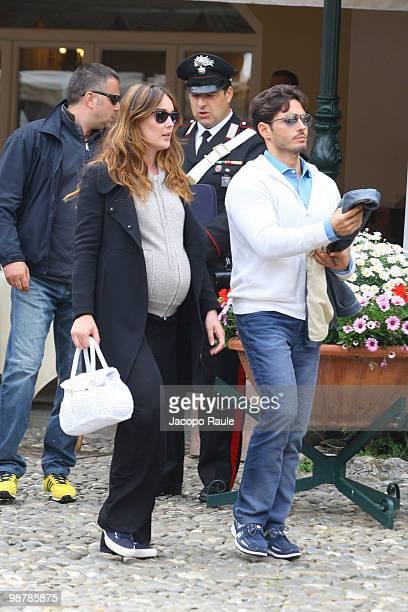 Piersilvio Berlusconi and his girlfriend Silvia Toffanin are seen on May 1 2010 in Portofino Italy