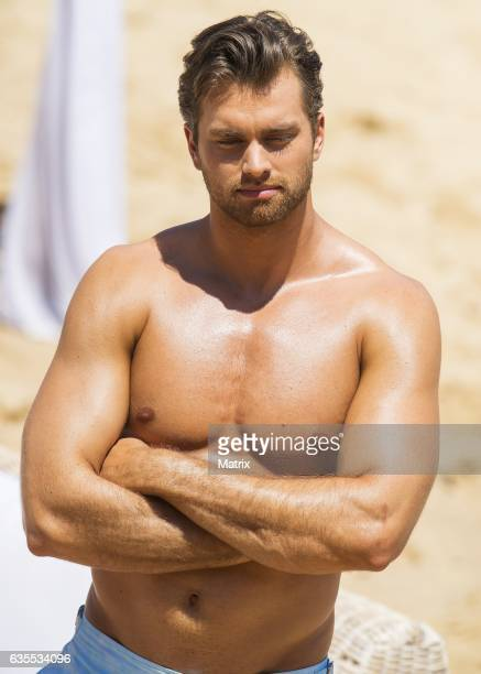 Pierson Fode filming Bold and the Beautiful on February 15 2017 in Sydney Australia
