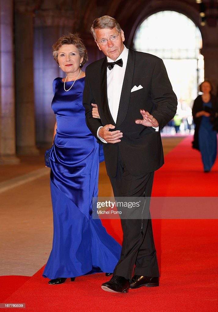 Piet Hein Donner (R) attends a dinner hosted by Queen Beatrix of The Netherlands ahead of her abdication in favour of Crown Prince Willem Alexander at Rijksmuseum on April 29, 2013 in Amsterdam, Netherlands.