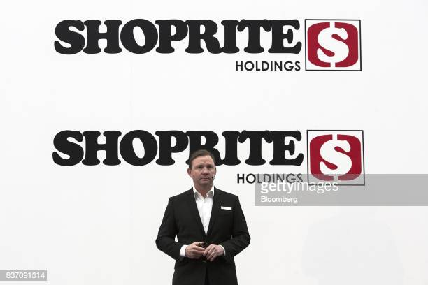 Pieter Engelbrecht chief executive officer of Shoprite Holdings Ltd pauses during a news conference in Cape Town South Africa on Tuesday Aug 22 2017...