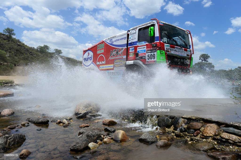 Pieter Versluis of team Man competes in stage 10 from Cordoba to La Rioja during the 2013 Dakar Rally on January 15, 2013 in Cordoba, Argentina.